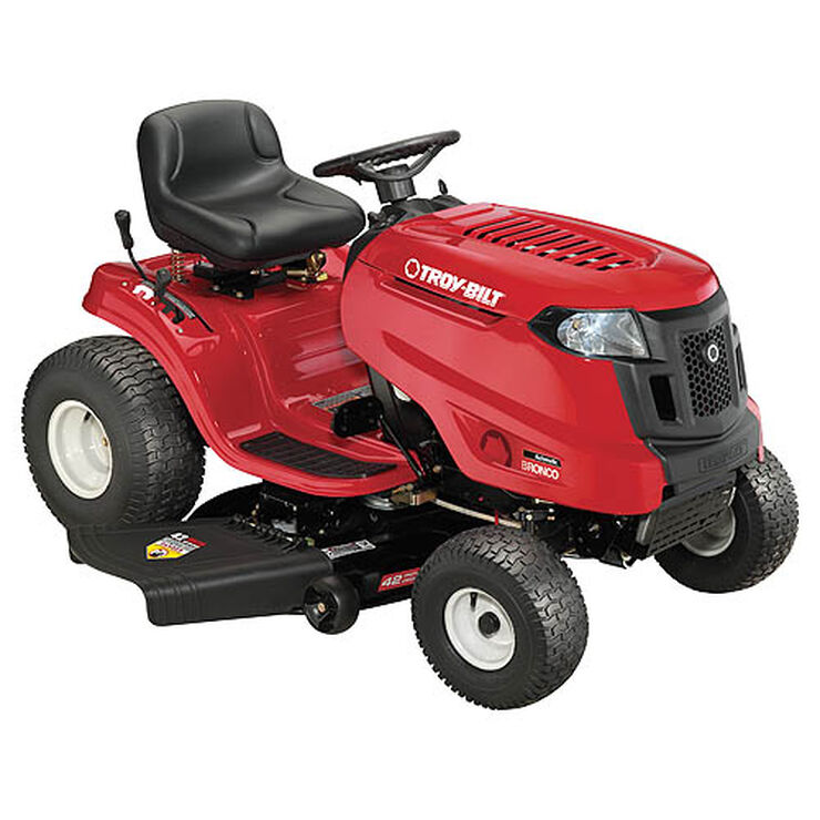 "Bronco, Bronco 42"" Troy-Bilt Riding Lawn Mower"