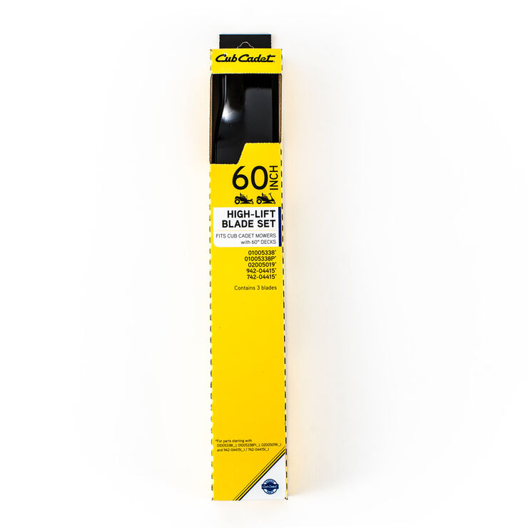 High Lift Blade Set for 60-inch Cutting Decks
