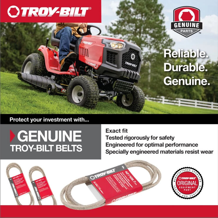 Riding Mower Lower Transmission Belt for 42-inch and 46-inch Cutting Decks