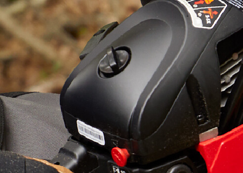 close up of chainsaw maintenance