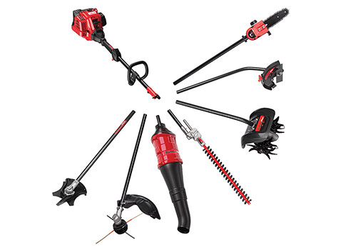 Troy-Bilt's Trimmer Plus 7 different attachment options