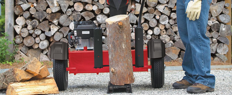 log-splitter-in-use